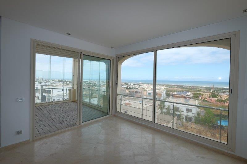 Casablanca, Ain Diab, à louer appartement de 230 m², appartement HQE, vue mer