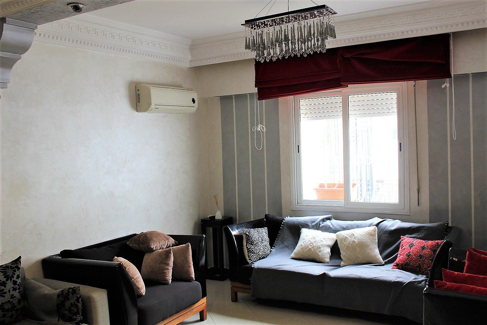 Maroc, Casablanca, Quartier Princesses, à louer appartement meublé, secteur Bld Ghandi.