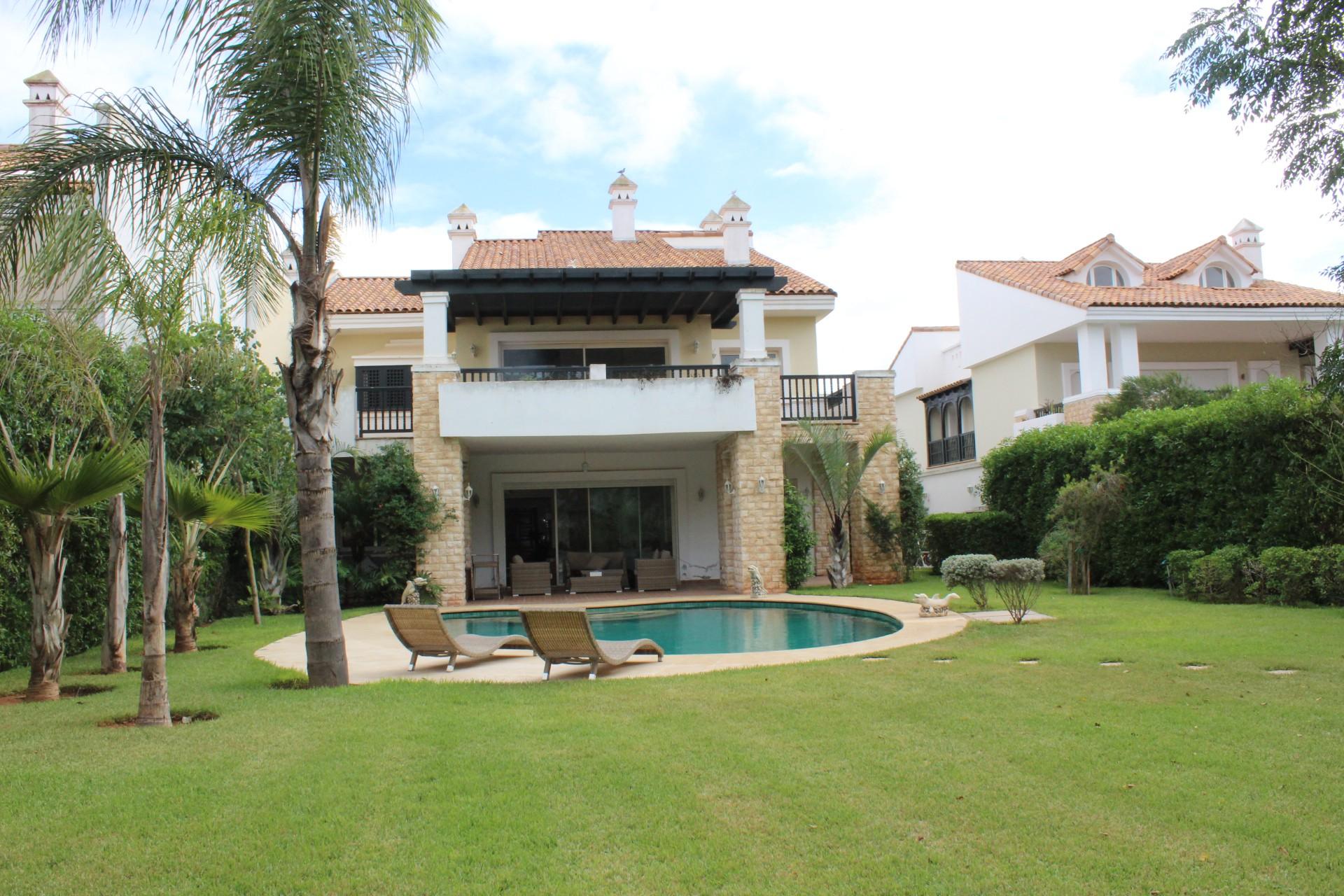 Maroc, Grand Casablanca, Dar bouazza à louer villa de maître meublée subtilement agencée 7 chambres
