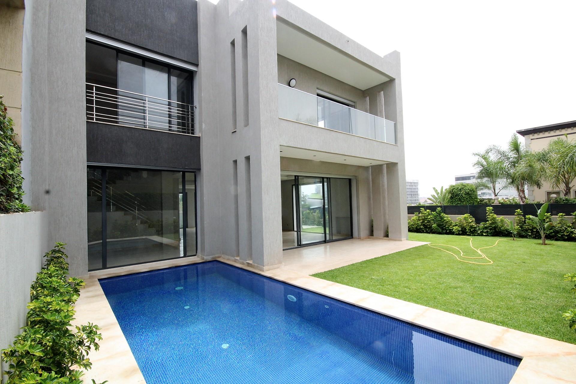 Maroc, Casablanca Sud (secteur Casa Nearshore), à louer villa neuve à usage mixte (professionnel et /ou Habitation)