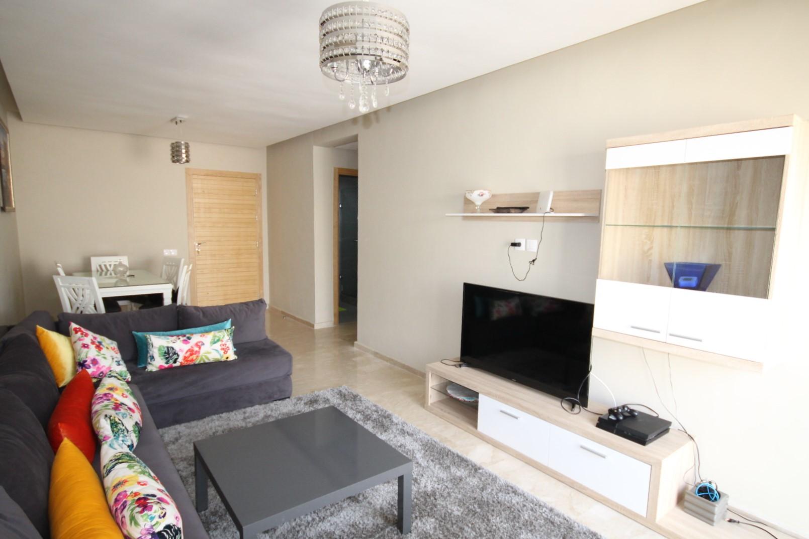 à louer agréable appartement neuf de 94 m² meublé avec gout avec terrasse