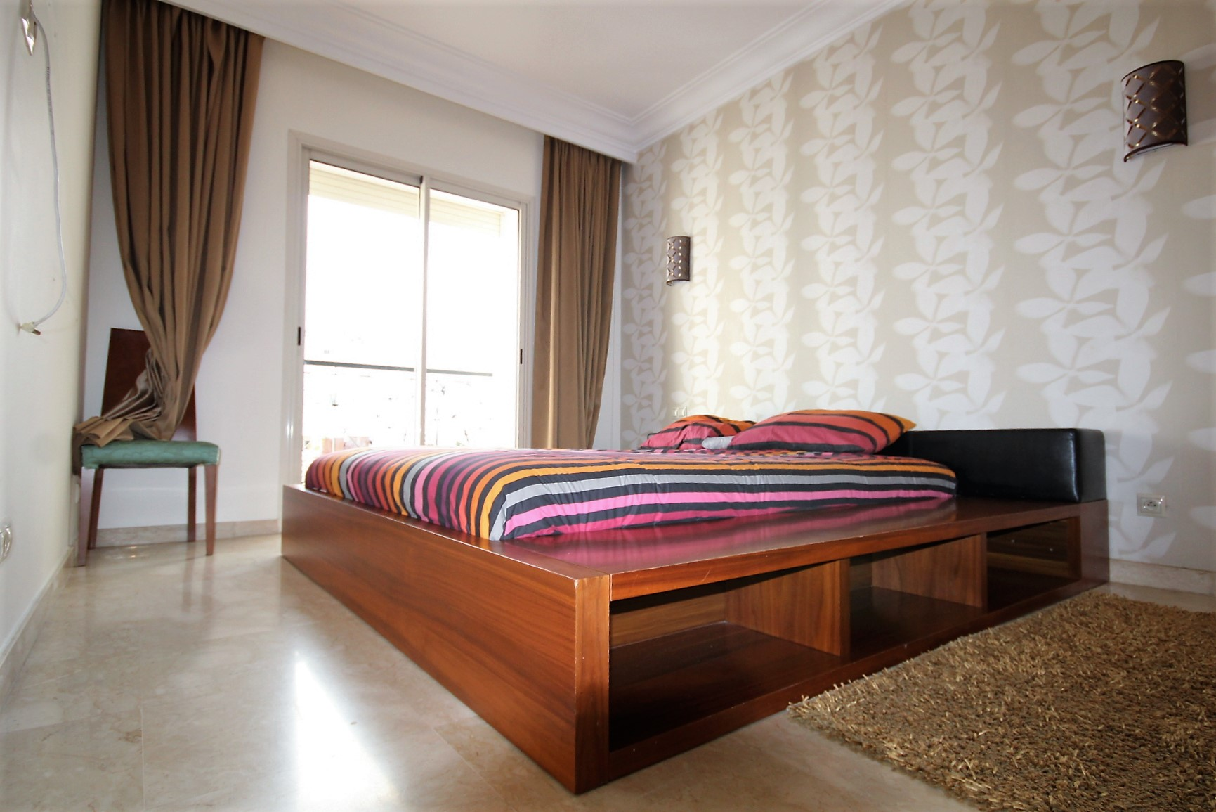 Maroc, Casablanca, Maarif extension vend luxueux appartement 2 chambres 118 m²