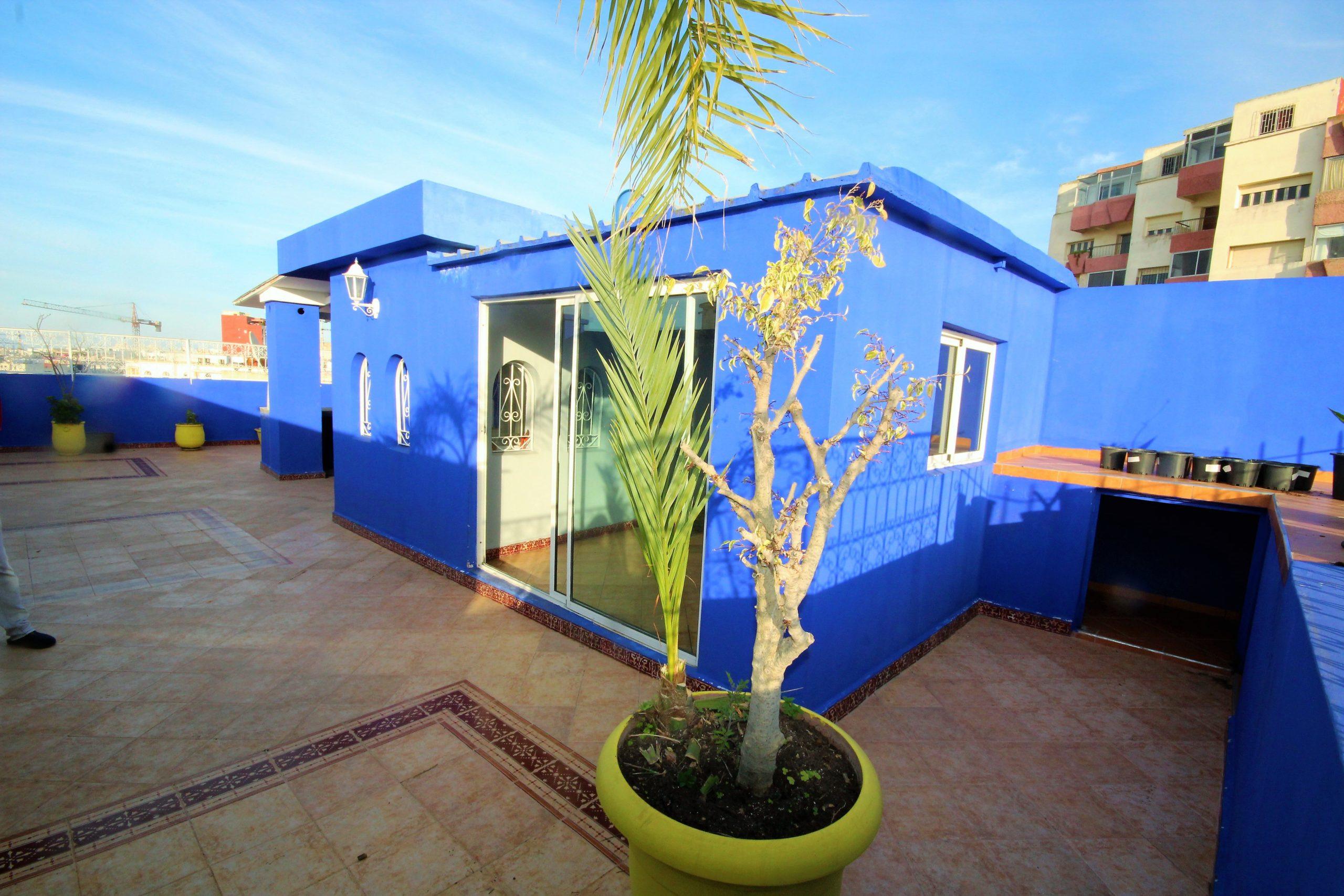 Casablanca, Racine, exceptionnel Appartement 3 chambres avec toit terrasse de 106 m²