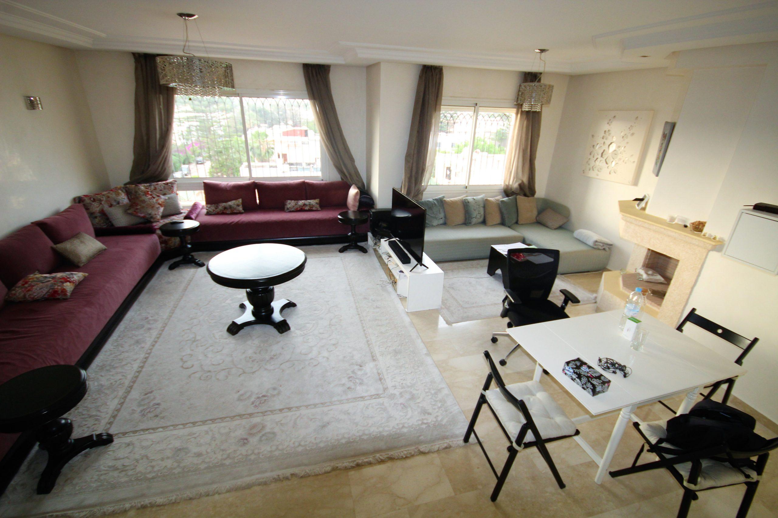 CASABLANCA CIL LOUE LUXUEUX 3 ch ensoleillé de 117 m² SANS VIS-A-VIS